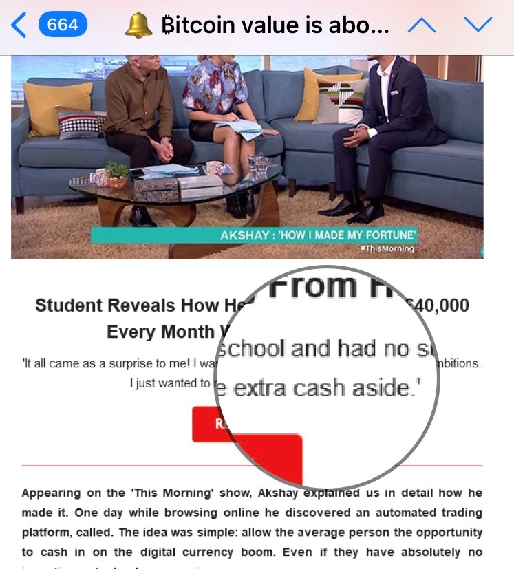 Example of a grammatical mistake in a Bitcoin scam